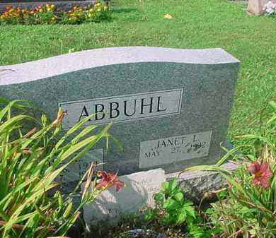 ABBUHL, JANET L - Tuscarawas County, Ohio | JANET L ABBUHL - Ohio Gravestone Photos