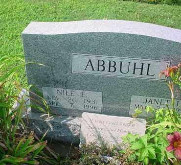 ABBUHL, NILE E - Tuscarawas County, Ohio   NILE E ABBUHL - Ohio Gravestone Photos