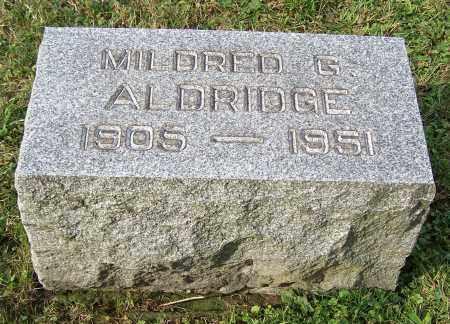 ALDRIDGE, MILDRED G. - Tuscarawas County, Ohio | MILDRED G. ALDRIDGE - Ohio Gravestone Photos