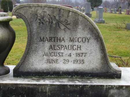MCCOY ALSPAUGH, MARTHA - Tuscarawas County, Ohio | MARTHA MCCOY ALSPAUGH - Ohio Gravestone Photos