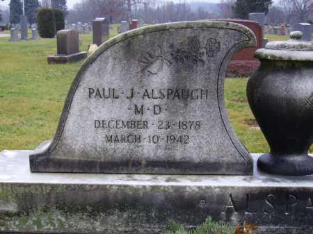 ALSPAUGH, PAUL J., MD - Tuscarawas County, Ohio | PAUL J., MD ALSPAUGH - Ohio Gravestone Photos