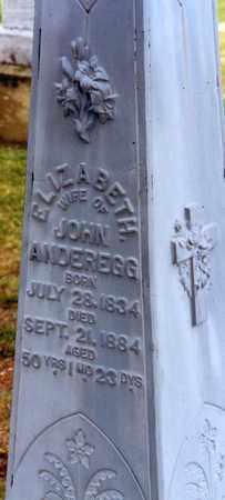 ANDEREGG, ELIZABETH - Tuscarawas County, Ohio | ELIZABETH ANDEREGG - Ohio Gravestone Photos