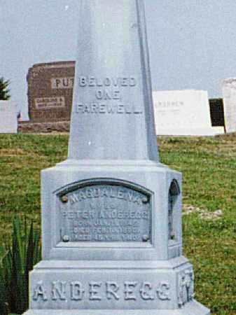 ANDEREGG, MAGDALENA - Tuscarawas County, Ohio   MAGDALENA ANDEREGG - Ohio Gravestone Photos