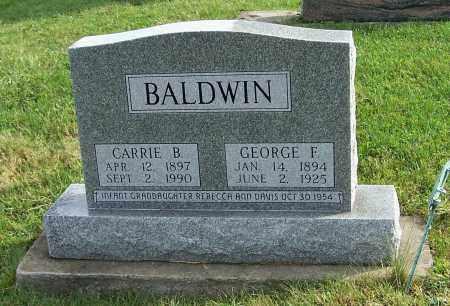 BALDWIN, GEORGE F. - Tuscarawas County, Ohio | GEORGE F. BALDWIN - Ohio Gravestone Photos
