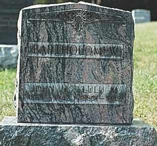 BARTHOLOMEW, JOHN H. - Tuscarawas County, Ohio | JOHN H. BARTHOLOMEW - Ohio Gravestone Photos