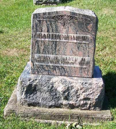 BARTHOLOMEW, JOHN H. - Tuscarawas County, Ohio   JOHN H. BARTHOLOMEW - Ohio Gravestone Photos