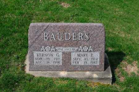 BAUDERS, MARY E. - Tuscarawas County, Ohio | MARY E. BAUDERS - Ohio Gravestone Photos