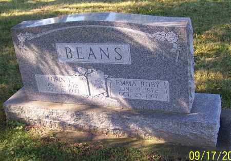 BEANS, EMMA ROBY - Tuscarawas County, Ohio | EMMA ROBY BEANS - Ohio Gravestone Photos
