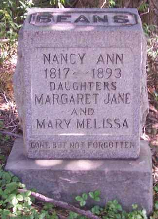 BEANS, NANCY ANN - Tuscarawas County, Ohio | NANCY ANN BEANS - Ohio Gravestone Photos