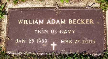 BECKER, WILLIAM ADAM - Tuscarawas County, Ohio   WILLIAM ADAM BECKER - Ohio Gravestone Photos
