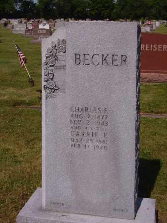 KLINGENSMITH BECKER, CARRIE E. - Tuscarawas County, Ohio | CARRIE E. KLINGENSMITH BECKER - Ohio Gravestone Photos