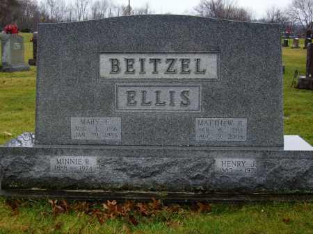 ELLIS BEITZEL, MONUMENT - Tuscarawas County, Ohio   MONUMENT ELLIS BEITZEL - Ohio Gravestone Photos