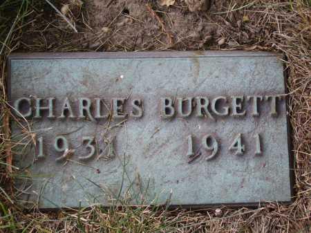 BURGETT, CHARLES - FUNERAL PLATE - Tuscarawas County, Ohio | CHARLES - FUNERAL PLATE BURGETT - Ohio Gravestone Photos