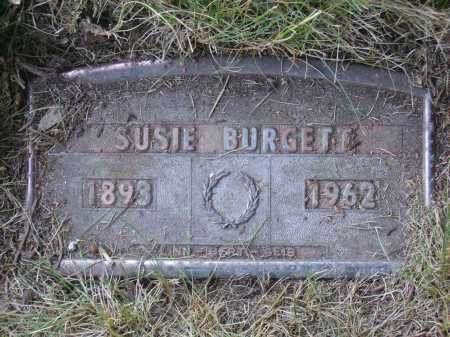 BURGETT, SUSIE - FUNERAL PLATE - Tuscarawas County, Ohio | SUSIE - FUNERAL PLATE BURGETT - Ohio Gravestone Photos