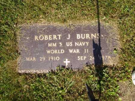 BURNS, ROBERT J. - MILITARY - Tuscarawas County, Ohio | ROBERT J. - MILITARY BURNS - Ohio Gravestone Photos