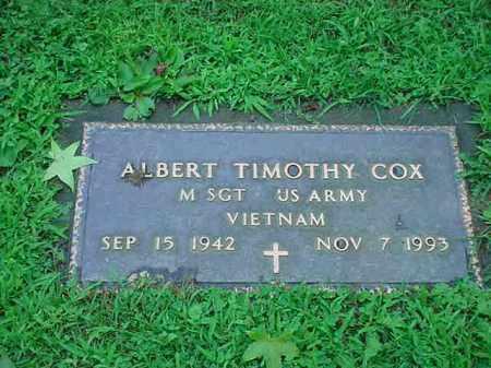 COX, ALBERT TIMOTHY - Tuscarawas County, Ohio | ALBERT TIMOTHY COX - Ohio Gravestone Photos