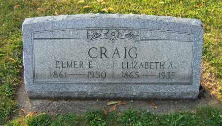 CRAIG, ELMER E - Tuscarawas County, Ohio | ELMER E CRAIG - Ohio Gravestone Photos
