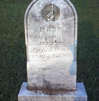 CRITES, MARY - Tuscarawas County, Ohio   MARY CRITES - Ohio Gravestone Photos