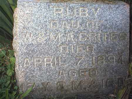 CRITES, RUBY - Tuscarawas County, Ohio | RUBY CRITES - Ohio Gravestone Photos