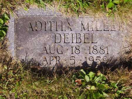 MILLER DEIBEL, ADITHA - Tuscarawas County, Ohio | ADITHA MILLER DEIBEL - Ohio Gravestone Photos
