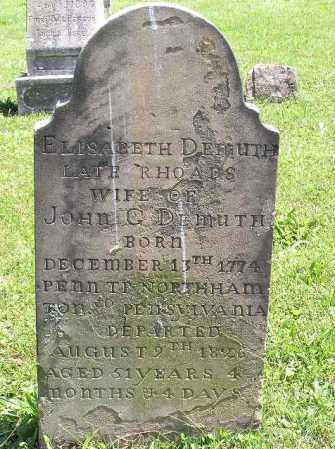 RHOADS DEMUTH, ELISABETH - Tuscarawas County, Ohio | ELISABETH RHOADS DEMUTH - Ohio Gravestone Photos
