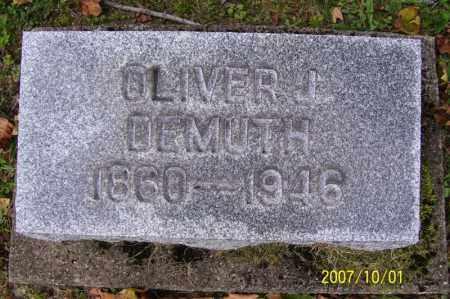 DEMUTH, OLIVER JAMES - Tuscarawas County, Ohio | OLIVER JAMES DEMUTH - Ohio Gravestone Photos