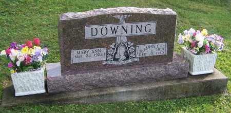 DOWNING, MARY ANN - Tuscarawas County, Ohio | MARY ANN DOWNING - Ohio Gravestone Photos