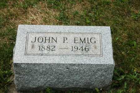 EMIG, JOHN P. - Tuscarawas County, Ohio   JOHN P. EMIG - Ohio Gravestone Photos