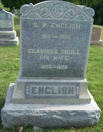 ENGLISH, O.W. - Tuscarawas County, Ohio | O.W. ENGLISH - Ohio Gravestone Photos