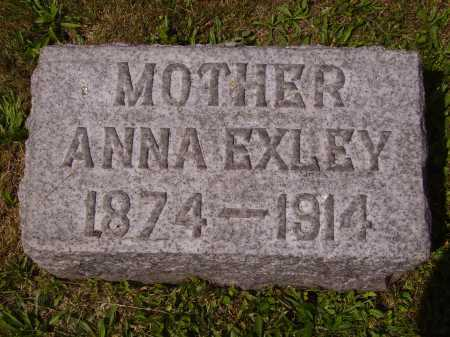 SCHUMAKER EXLEY, ANNA - Tuscarawas County, Ohio | ANNA SCHUMAKER EXLEY - Ohio Gravestone Photos