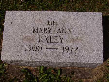 EXLEY, MARY ANN - Tuscarawas County, Ohio | MARY ANN EXLEY - Ohio Gravestone Photos