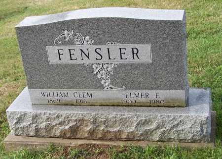 FENSLER, WILLIAM CLEM - Tuscarawas County, Ohio | WILLIAM CLEM FENSLER - Ohio Gravestone Photos