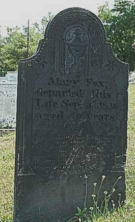 FOX, MARY - Tuscarawas County, Ohio | MARY FOX - Ohio Gravestone Photos