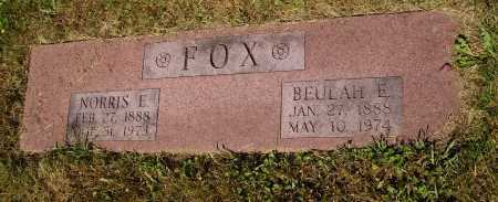 FOX, NORRIS E. - Tuscarawas County, Ohio | NORRIS E. FOX - Ohio Gravestone Photos