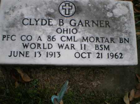 GARNER, CLYDE B - Tuscarawas County, Ohio | CLYDE B GARNER - Ohio Gravestone Photos