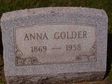 GOLDER, ANNA - Tuscarawas County, Ohio   ANNA GOLDER - Ohio Gravestone Photos