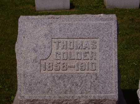 GOLDER, THOMAS - Tuscarawas County, Ohio   THOMAS GOLDER - Ohio Gravestone Photos