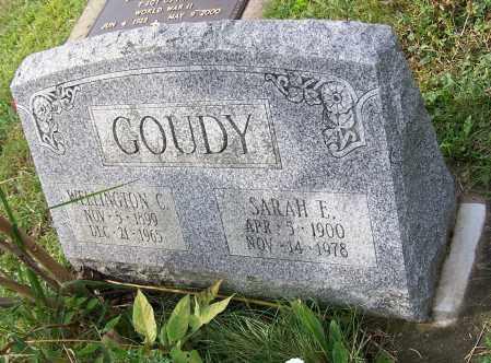 GOUDY, WELLINGTON C. - Tuscarawas County, Ohio | WELLINGTON C. GOUDY - Ohio Gravestone Photos