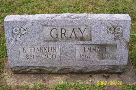 GRAY, ELMER FRANKLIN - Tuscarawas County, Ohio | ELMER FRANKLIN GRAY - Ohio Gravestone Photos