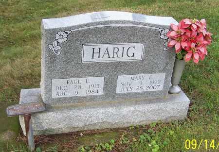 HARIG, PAUL L. - Tuscarawas County, Ohio | PAUL L. HARIG - Ohio Gravestone Photos