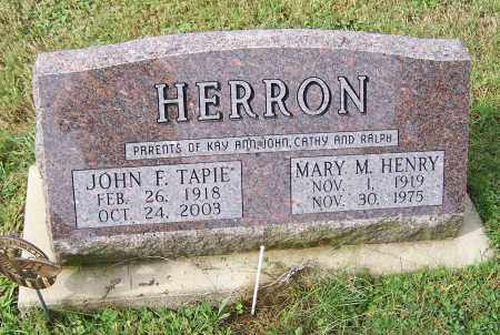 HERRON, MARY M.HENRY - Tuscarawas County, Ohio   MARY M.HENRY HERRON - Ohio Gravestone Photos