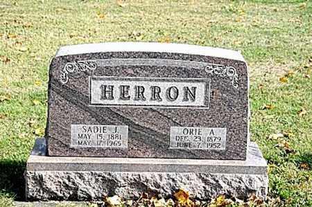 HERRON, SADIE J. - Tuscarawas County, Ohio   SADIE J. HERRON - Ohio Gravestone Photos