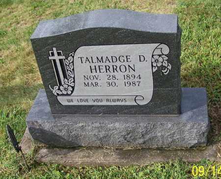 HERRON, TALMADGE D. - Tuscarawas County, Ohio | TALMADGE D. HERRON - Ohio Gravestone Photos