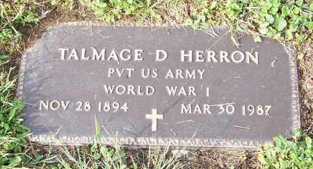 HERRON, TALMAGE D.  (MIL) - Tuscarawas County, Ohio   TALMAGE D.  (MIL) HERRON - Ohio Gravestone Photos