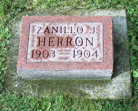 HERRON, ZANILLO J. - Tuscarawas County, Ohio | ZANILLO J. HERRON - Ohio Gravestone Photos