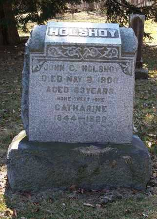 HOLSHOY, JOHN C. - Tuscarawas County, Ohio | JOHN C. HOLSHOY - Ohio Gravestone Photos