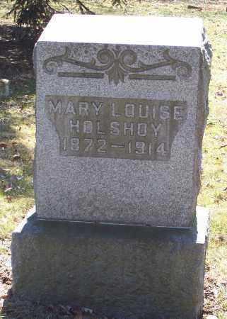 HOLSHOY, MARY LOUISE - Tuscarawas County, Ohio | MARY LOUISE HOLSHOY - Ohio Gravestone Photos