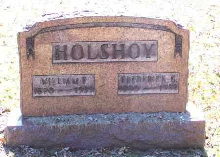 HOLSHOY, FREDERICK G. - Tuscarawas County, Ohio | FREDERICK G. HOLSHOY - Ohio Gravestone Photos