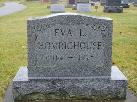 HOMRIGHOUSE, EVA L. - Tuscarawas County, Ohio   EVA L. HOMRIGHOUSE - Ohio Gravestone Photos