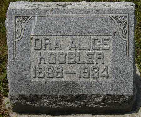 HOOBLER, ORA ALICE - Tuscarawas County, Ohio   ORA ALICE HOOBLER - Ohio Gravestone Photos
